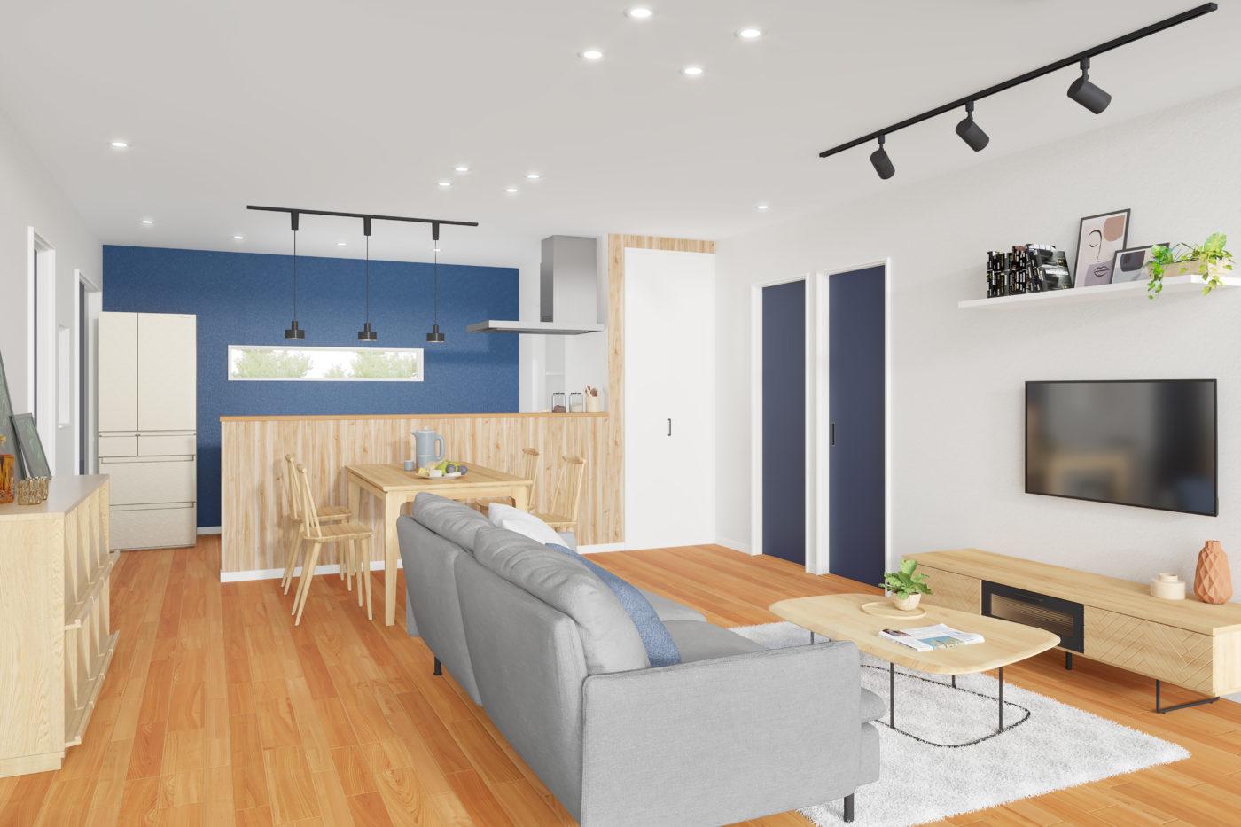 「ブルックリンスタイルカフェ風」平屋テイストの家